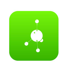 acetone icon green vector image