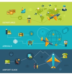 Airport Banners Set vector image