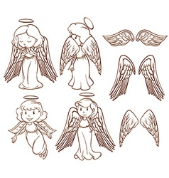 Angels vector image