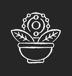Antioxidant chalk white icon on black background vector