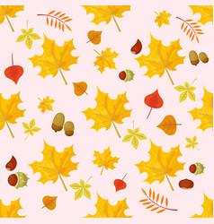 Autumn yellow maple leaf season nature seamless vector