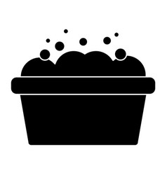 bathtub with foam icon image vector image