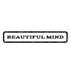 beautiful mind watermark stamp vector image