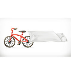 Bike and white banner graphic element vector