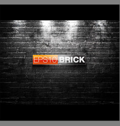 black and white brick wall background vector image