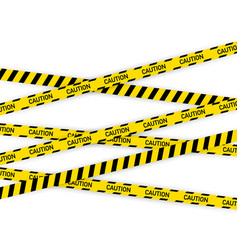 Black and yellow police stripe vector