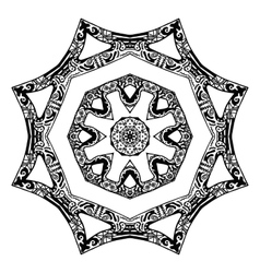 Black star pattern hand-drawn design vector