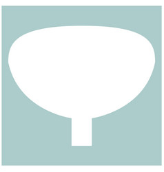Bladder the white color icon vector