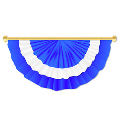 Blue and white bunting vector