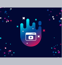 Browser window simple icon video content sign vector