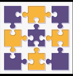 Business concept puzzles flat cartoon vector