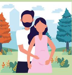 casual happy people cartoon vector image