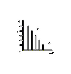 chart graph report up icon design vector image