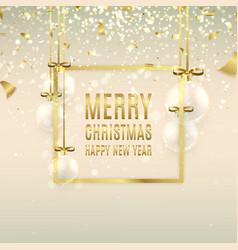 Christmas banner with glass ball vector image