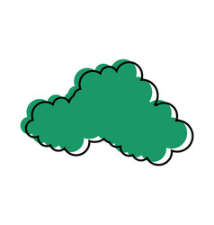 Cloud weather symbol vector