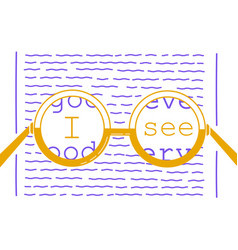 Concept of vision recovery inscription vector