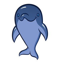 cute cartoon dolphin isolated on white background vector image
