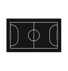 Design stadium and football logo vector