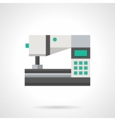 Digital sewing machine flat color icon vector image