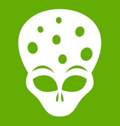 Extraterrestrial alien head icon green vector