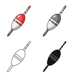 Fishing float icon in cartoon style isolated on vector