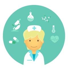 Flat nurse vector image