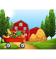 Fresh products on the farm vector