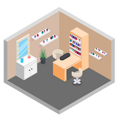 hand nail care manicure room services isometric vector image