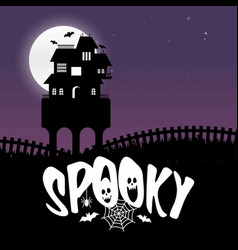 happy halloween spookey fun creative design vector image