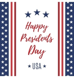 Happy Presidents Day poster or brochure template vector image