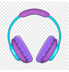 Headphone icon cartoon style vector