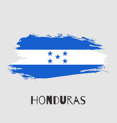 Honduras watercolor national country flag icon vector