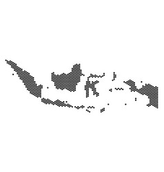 honeycomb indonesia map vector image