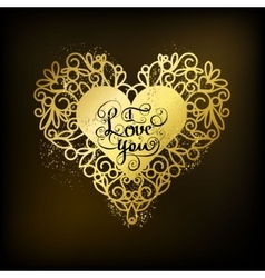 I love you Romantic inspiration quote vector image