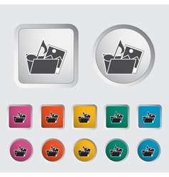Icon Folder vector image
