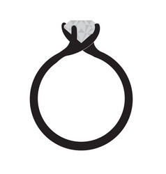 isolated silhouette of a ring vector image