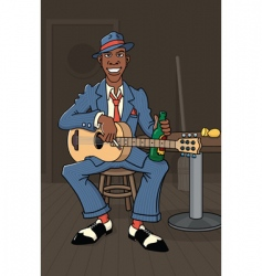 King of the delta blues vector