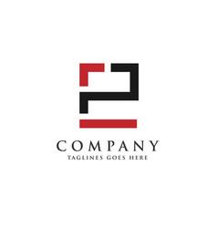 Letter pe letter ep logo vector