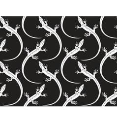 lizards on a seamless wallpaper pattern vector image