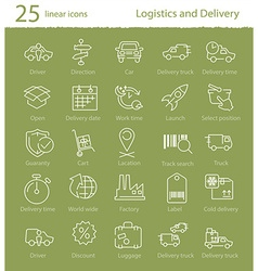 Logistics shipping and delivery icons set vector image