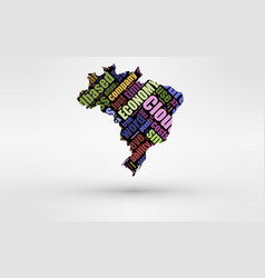map of brasil theme of economy and global finance vector image