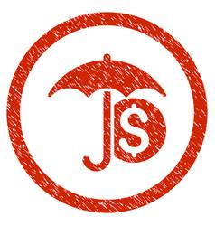 money umbrella protection rounded grainy icon vector image