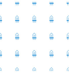musical instrument icon pattern seamless white vector image