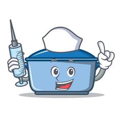 nurse kitchen character cartoon style vector image