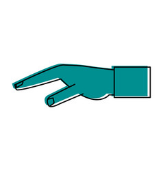 Open hand with palm down icon image vector