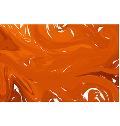 orange marble abstract background liquid marble vector image