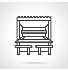 Park cafe black line design icon vector