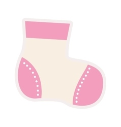 Pink sock for a baby girl vector