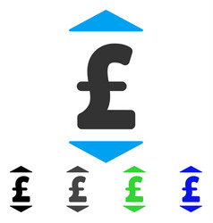 Pound up down flat icon vector