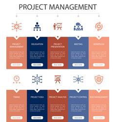 Project management infographic 10 steps ui design vector